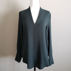 H&M Top, Dark Green, long sleeve, size 2
